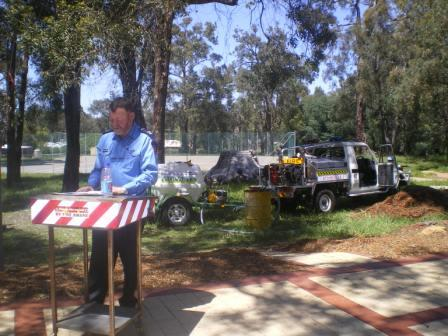 Presentation of the Bendigo Bank fire trailers - October 2007